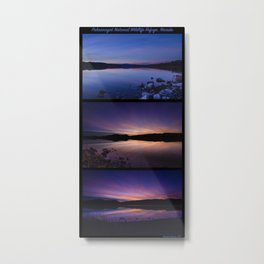 Pahranagat National Wildlife Refuge Sunsets - NV Metal Print