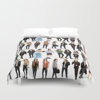 harry styles Duvet Covers featuring 21 Harry Styles by justsomestuff