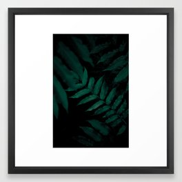 Dark Leaves II Framed Art Print
