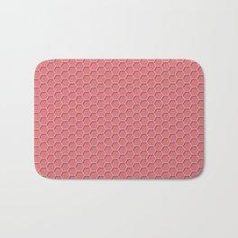 Pink Honeycomb Bath Mat
