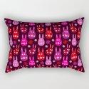 Easter Egg Bunny Pattern - Red Crimson Claret & Pink by denidesigns
