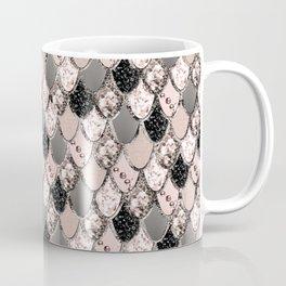 Rose Gold Blush Mermaid Princess Glitter Scales #1 #shiny #decor #art #society6 Coffee Mug