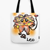 leo Tote Bags featuring leo by sladja