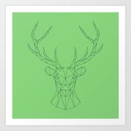 Poly-Stag Art Print