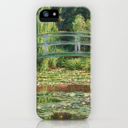 Bridge over a Pond of Water Lilies - Monet iPhone Case