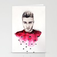 coconutwishes Stationery Cards featuring Eyes on Zayn  by Coconut Wishes
