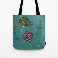 lanterns Tote Bags featuring Lanterns  by MinaSparklina