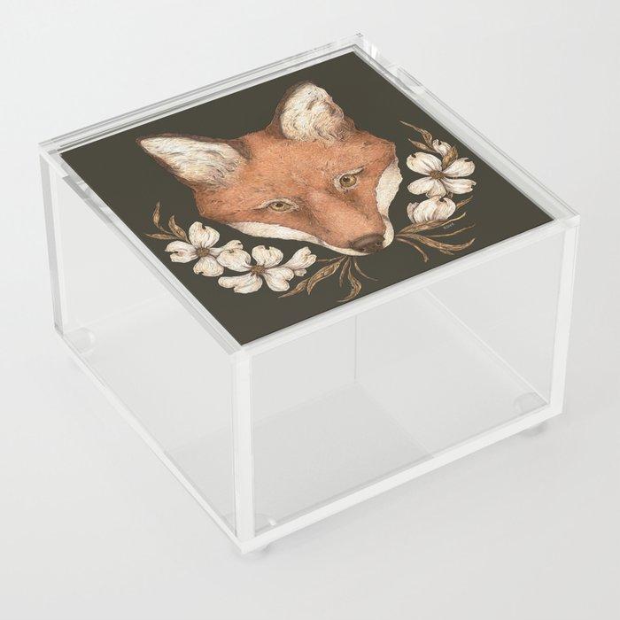 The Fox and Dogwoods Acrylic Box