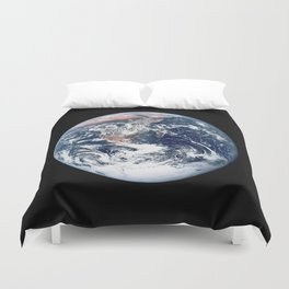 Apollo 17 - Iconic Blue Marble Photograph Duvet Cover