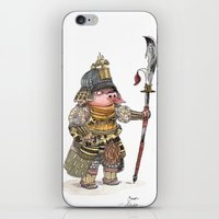 bouletcorp iPhone & iPod Skins featuring Cochon Samouraï by Bouletcorp