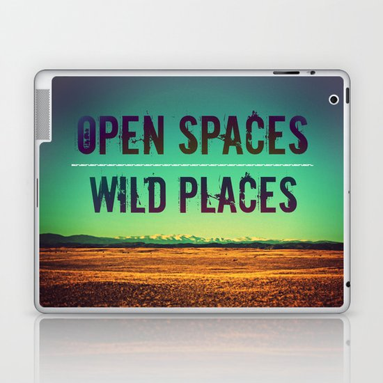 Open Spaces Wild Places Laptop & iPad Skin