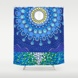 Full Moon Splendour Shower Curtain