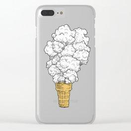 Volcano ice cream Clear iPhone Case