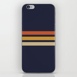 Vintage Retro Stripes iPhone Skin