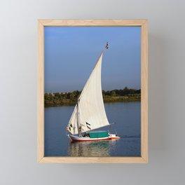 Felucca sailing along the Nile River Framed Mini Art Print