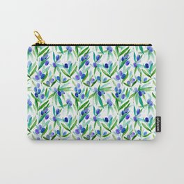 Olive Greek Mediterranean Watercolor Pattern Carry-All Pouch