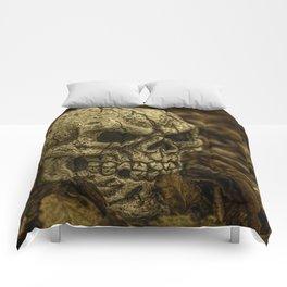 Halloween Skull 1 Comforters