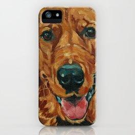 Coper the Golden Retriever Dog Portrait iPhone Case