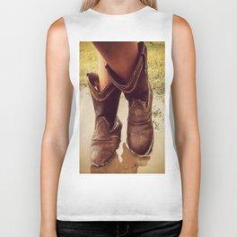 Cowboy Boots Biker Tank