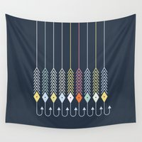 decal Wall Tapestries featuring Bait by Friztin by friztin