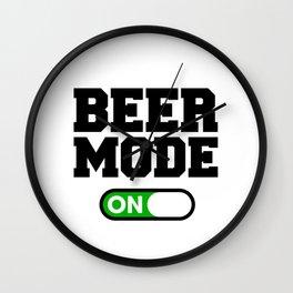 Beer Mode Wall Clock