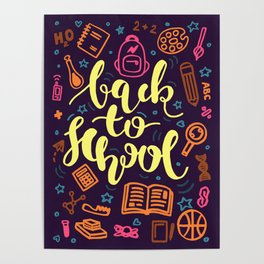 Colorful Back to School Education Poster