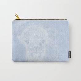 Ghostly alpaca and mandala in serenity blue Carry-All Pouch
