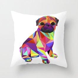Pug Dog Molly Mops Throw Pillow