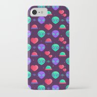 aliens iPhone & iPod Cases featuring Kawaii Aliens by badOdds