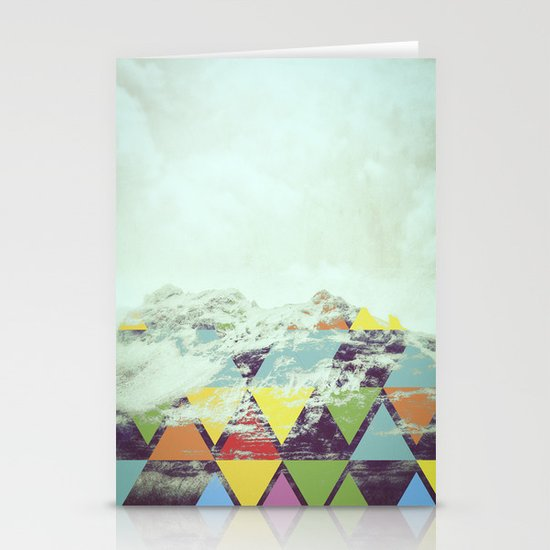 Triangle Mountain Stationery Cards