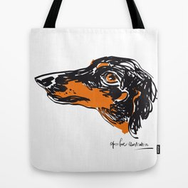 Zoe the datchshound Tote Bag