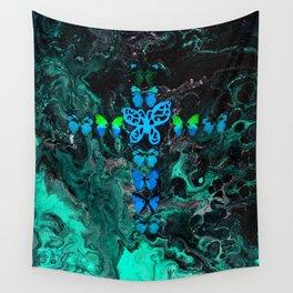 Jade Fire Cross Wall Tapestry