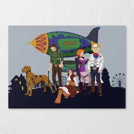 Scooby Doo and the Steampunkers Canvas Print