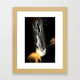 Ghostly Jelly Fish Framed Art Print