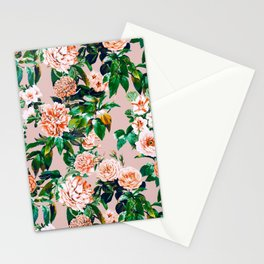Pink garden Stationery Cards