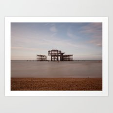 Remains Of brighton Pier Art Print
