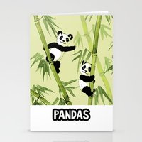 pandas Stationery Cards featuring Pandas by Volha