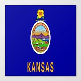 flag Kansas-america,usa,middlewest,Sunflower State, Kansan,Topeka,Wichita,Overland Park,Wheat State Canvas Print