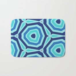 Bet on Blue - Abstract Circles Bath Mat