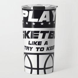 Girls Basketball Sport Gift Travel Mug