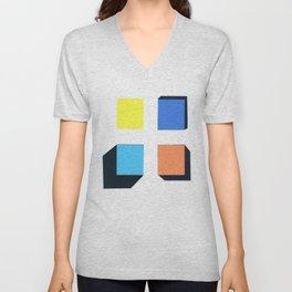 Squares in cross Unisex V-Neck