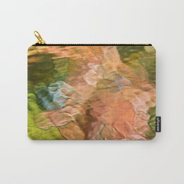 Salmon Mosaic Abstract Art Carry-All Pouch