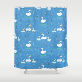 Swanning About Shower Curtain