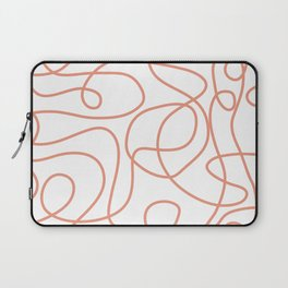Doodle Line Art | Coral Lines on White Background Laptop Sleeve