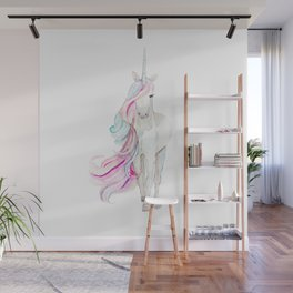 Watercolor Unicorn Wall Mural