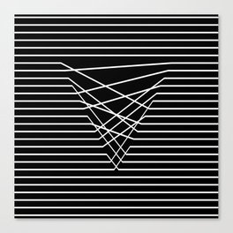 Line Complex Dark Triangle Canvas Print