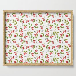 Rosehip and Bee Pattern Serving Tray
