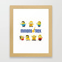 Minion Trek Framed Art Print