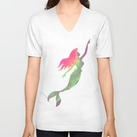 ariel V-neck T-shirts featuring Ariel  by foreverwars