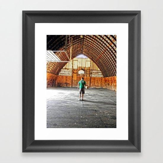 Basketball Barn Framed Art Print